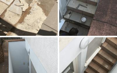Treppensanierung , Treppe fliesen einer Souterrain Wohnung in Worms